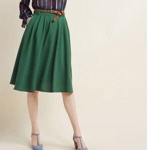 ModCloth Green Midi skirt